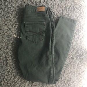 Denim - Olive green pants